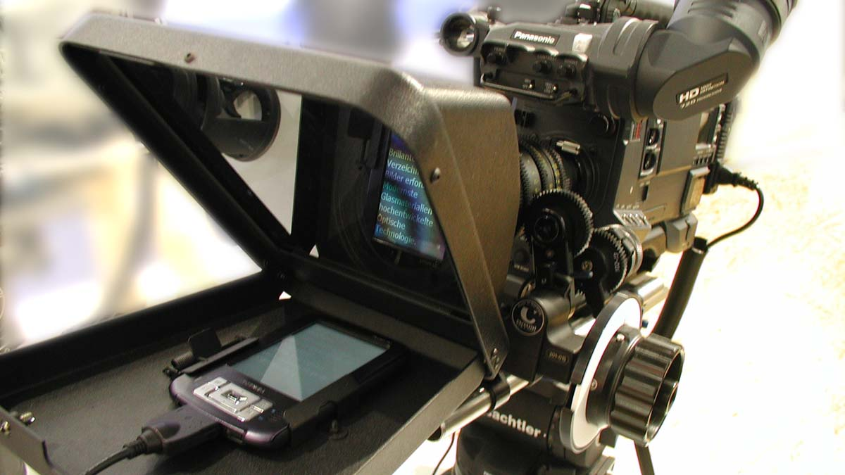 Teleprompter mit Handy